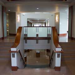 Stairwell from first to second floor